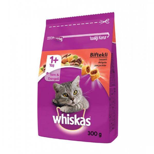 Whiskas Biftekli Havuçlu Kuru Kedi Maması 300 gr
