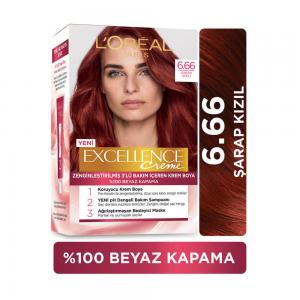 Loreal Excellence Saç Boyası 6.66 Şarap Kızılı