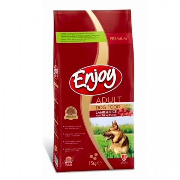 Enjoy Kuzu Etli ve Pirinçli Yetişkin Köpek Maması 15 Kg
