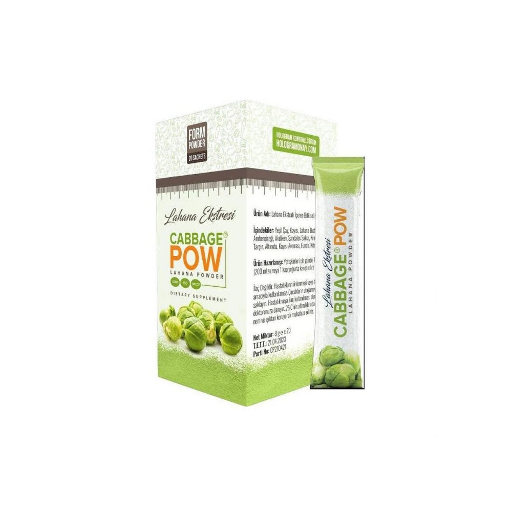 Lahana Ekstresi Cabbage Pow 20X8gr Saşe