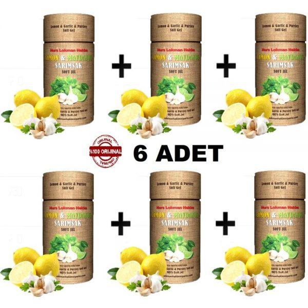 Nurs Limon Maydanoz Sarımsak Kürü Soft Jel 6 x 60 Kapsül