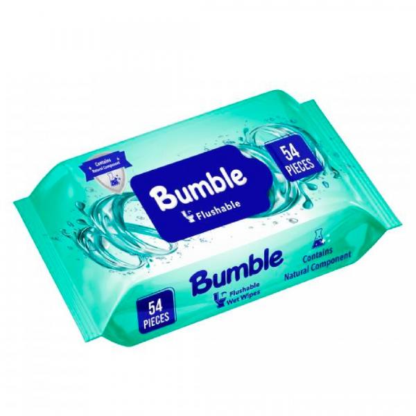 Bumble Flushable Islak Tuvalet Kağıdı 54 Yaprak