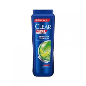Clear Şampuan Men Yağlı Saç Derisi için Maksimum Ferahlık 600ml