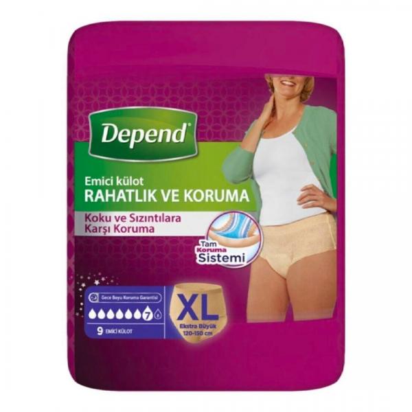 Depend Hasta Bezi Emici Külot Kadın 9 Adet XLarge