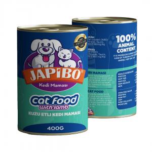 Japibo Kuzu Etli Konserve Kedi Maması 400 Gr