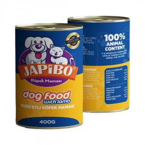 Japibo Kuzu Etli Konserve Köpek Maması 400 Gr