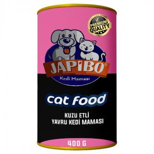 Japibo Kuzu Etli Yavru Konserve Kedi Maması 400 Gr