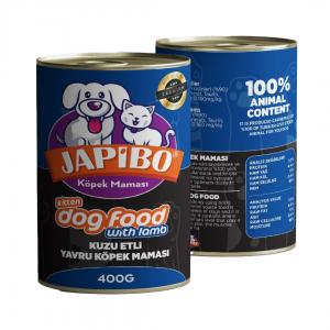 Japibo Kuzu Etli Yavru Konserve Köpek Maması 400 Gr