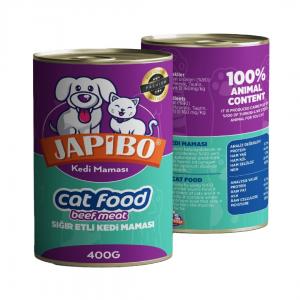 Japibo Sığır Etli Konserve Kedi Maması 400 Gr