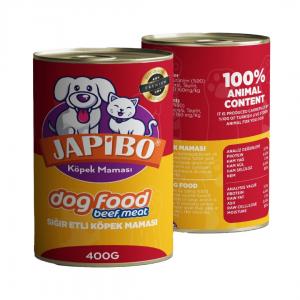 Japibo Sığır Etli Konserve Köpek Maması 400 Gr