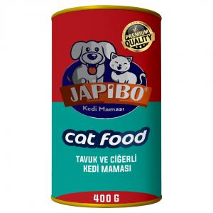 Japibo Tavuk Ve Ciğerli Konserve Kedi Maması 400 Gr